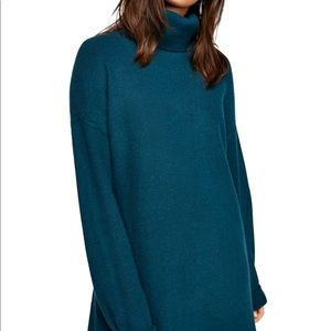 Free People Softly Structured Tunic Blue Size Med